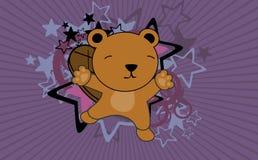 Fond sautant de bande dessinée de castor mignon de bébé Images stock