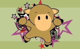Fond sautant de bande dessinée de chameau mignon de bébé Photographie stock libre de droits