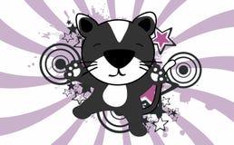 Fond sautant de bande dessinée de chat mignon de bébé Image libre de droits