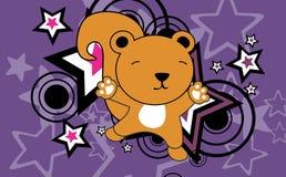 Fond sautant de bande dessinée d'écureuil mignon de bébé Images libres de droits