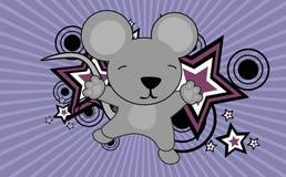 Fond sautant de bande dessinée de souris mignonne de bébé Images stock