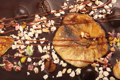 Fond savoureux de chocolat Image stock