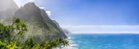Fond scénique de panorama de paradis d'océan photographie stock libre de droits