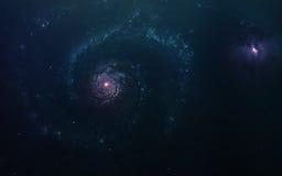 Fond scientifique abstrait - planètes en espace, nébuleuse et étoiles Éléments de cette image meublés par la NASA de la NASA gouv Images libres de droits