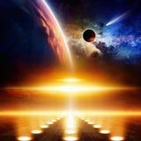 Fond scientifique de l'espace illustration libre de droits