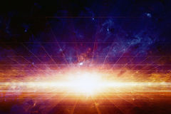 Fond scientifique de l'espace Images stock