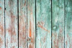 Fond se composant de vieux conseils en bois avec des traces de peinture d'épluchage Photographie stock libre de droits