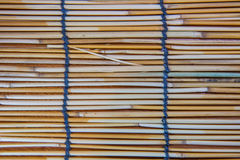 Fond sec en bambou de texture Photographie stock