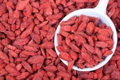 Fond sec rouge de baies de goji Photo libre de droits