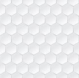 Fond semless blanc hexagonal avec l'effet 3d Photographie stock libre de droits