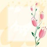 Fond sensible de tulipe Image stock