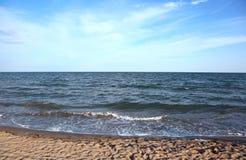 fond simple avec la mer et la plage images libres de droits
