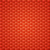 Fond simple orange rouge de mur de briques Image stock