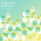 Fond simple pour l'affiche avec l'élément d'hexagones Photos libres de droits