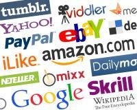 Fond social coloré de logos de media [2] illustration libre de droits