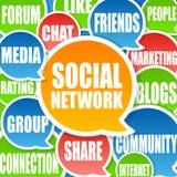 Fond social de réseau Photos stock