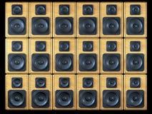 Fond sonore de haut-parleurs Photos stock
