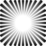 Fond sous forme de soleil noir avec des rayons illustration de vecteur