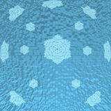 Fond sous forme de sphère bleue avec des flocons de neige Photographie stock libre de droits