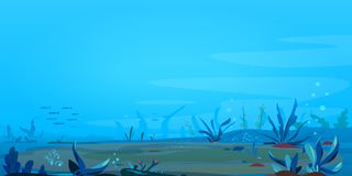 Fond sous-marin de paysage Photo stock
