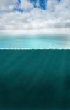 Fond sous-marin nautique de mer d'océan photographie stock libre de droits