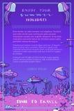 Fond sous-marin profond violet d'océan Image libre de droits