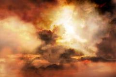Fond spectaculaire de coucher du soleil Photographie stock libre de droits