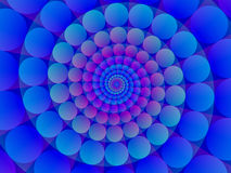Fond spiralé bleu abstrait Image libre de droits