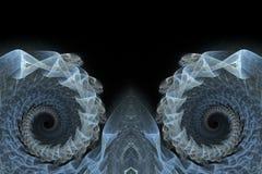 Fond spiralé bleu de fractales Photographie stock