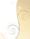 Fond spiralé crème illustration stock