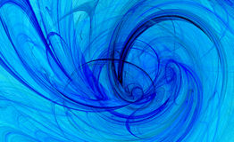 Fond spiralé de bleu de torsion Photographie stock libre de droits