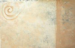 Fond spiralé peint Photo libre de droits