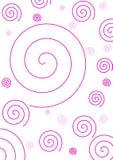 Fond spiralé rose simple Image libre de droits