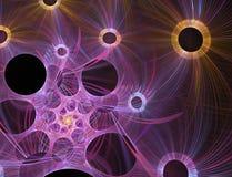 Fond spiralé rougeoyant de Web Photographie stock