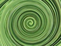 Fond spiralé vert Photo libre de droits