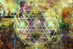 Fond spirituel abstrait image stock
