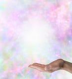 Fond spirituel de table des messages Photo stock