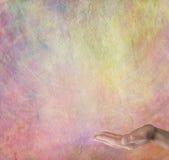 Fond spirituel de table des messages d'arc-en-ciel Images libres de droits
