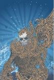 Fond squelettique illustration libre de droits