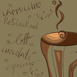 Fond stylisé avec du café Image stock