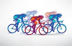 Fond stylisé de course de recyclage Image stock
