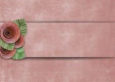 Fond superbe de vintage avec des roses Photos stock
