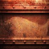 Fond superficiel par les agents en métal illustration de vecteur