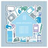 Fond sur le thème d'appareils ménagers Image libre de droits