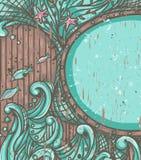 Fond sur le thème marin illustration libre de droits