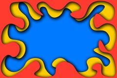 Fond sur plusieurs couches color?es avec les bords et l'ombre ?vidents illustration de vecteur