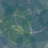 Fond swirly rétro d'abstrait Photo libre de droits