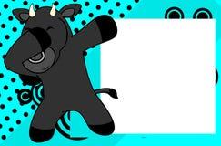 Fond tamponnant de cadre de tableau de bande dessinée d'enfant de taureau de pose de limande Image stock
