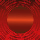 Fond technique rouge foncé abstrait de cercle Photos libres de droits