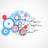 Fond technologique abstrait avec des cercles et des flèches Photographie stock